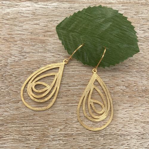 Swirls Teardrop - Gold