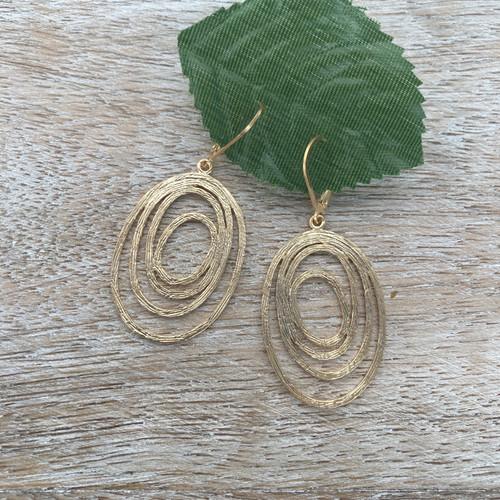 Swirls Oval - Gold