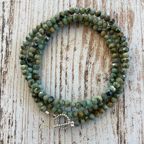 Moss Green Turquoise Wrap