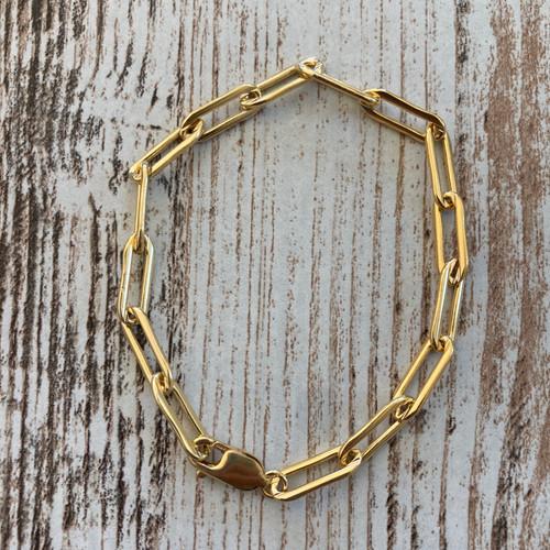 Goldfill Paperclip Bracelet