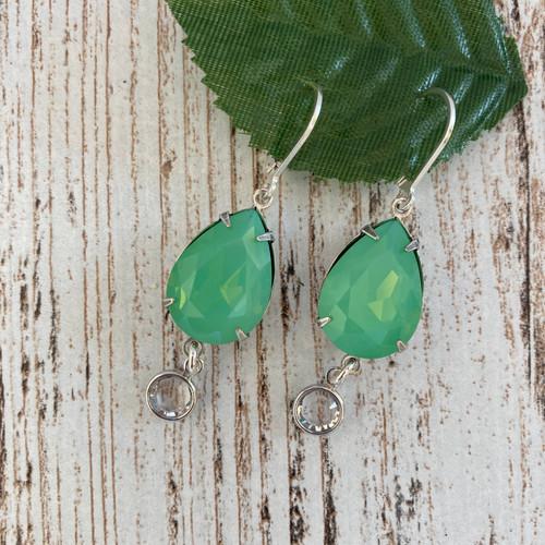 Vintage Green Opal Teardrop