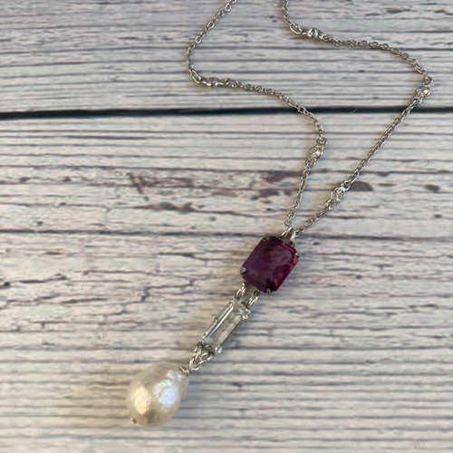 Art Deco Purple, Clear and Pearl