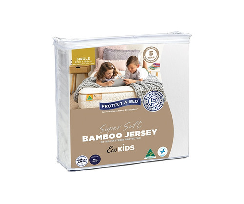 Eco Kids Single Bamboo Jersey Mattress Protector