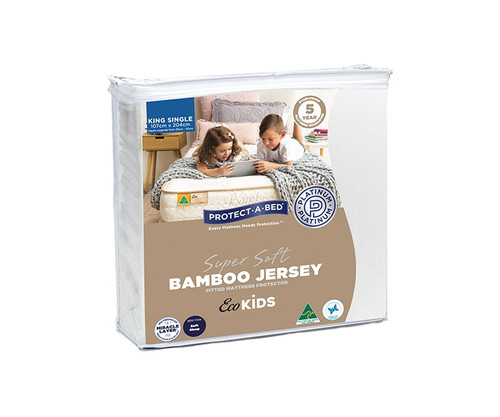 Eco Kids King Single Bamboo Jersey Mattress Protector