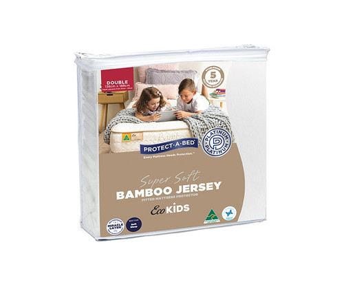 Eco Kids Double Bamboo Jersey Mattress Protector