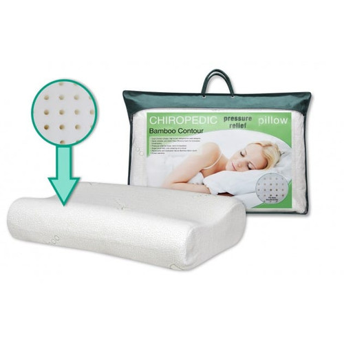 Chiropedic Pressure Relief Pillow Bamboo Contour