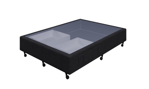Braga Black Double Base With 2 Drawer