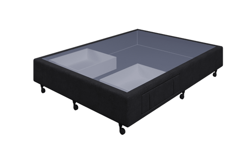 Braga Black Queen Base With 2 Drawer
