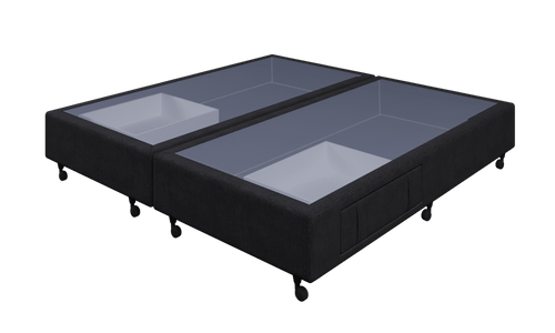 Braga Black Super King Base With 2 Drawers