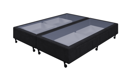 Braga Black King Base With 4 Drawers