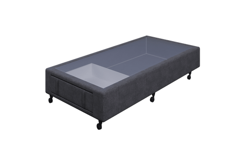 Braga Charcoal Single Base With 1 Drawer