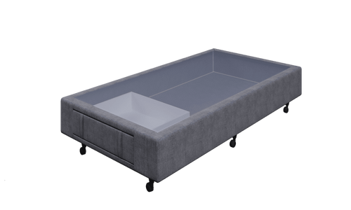 Braga Grey King Single Base With 1 Drawer