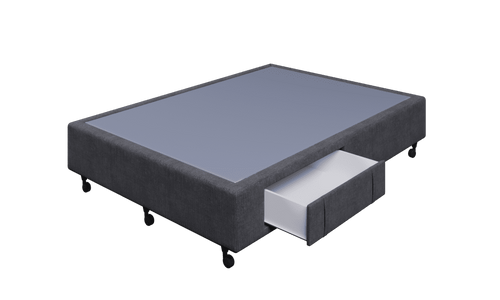 Braga Charcoal Double Base With 2 Drawers