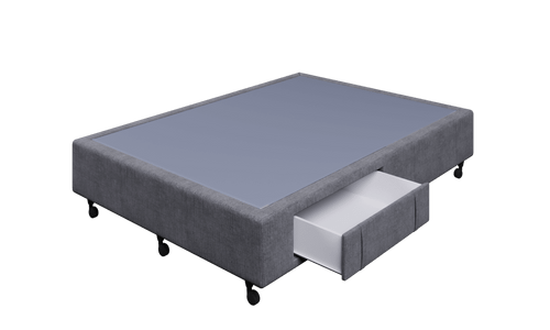 Braga Grey Double Base With 2 Drawers