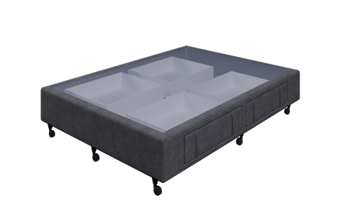 Braga Charcoal Double Base With 4 Drawers