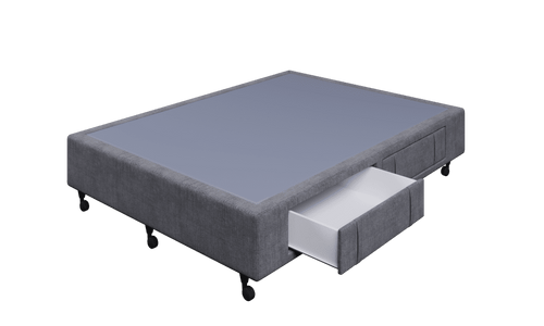 Braga Grey Double Base With 4 Drawers
