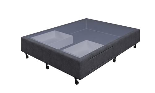 Braga Charcoal Queen Base With 2 Drawers
