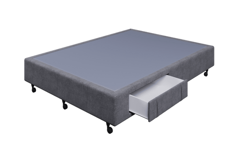 Braga Grey Queen Base With 2 Drawers