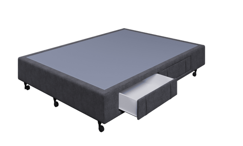Braga Charcoal Queen Base With 4 Drawers