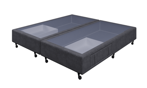 Braga Charcoal Super King Base With 2 Drawers