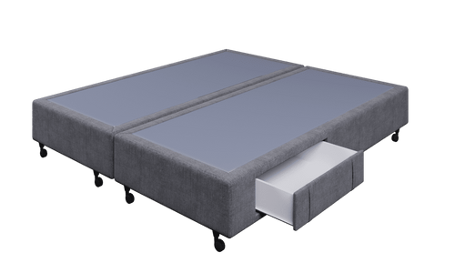 Braga Grey Super King Base With 4 Drawers