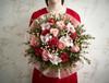 6 Hermoza Roses, 6 Matilda Roses, Pale Pink Cymbidium, Hypericum Coco Casino.