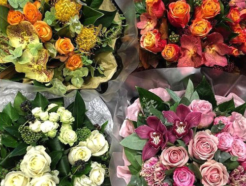 Let our talented florists design a bespoke bouquet for you using the best seasonal flowers available today. If you have any strong likes or dislikes, please include these in your order notes and we will do our best to fulfil your requirements.