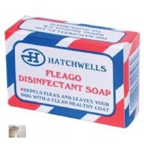 Repel fleas and leave your dog with a clean healthy coat by using Fleago Disinfectant Soap. Long lasting and easy to use. Made by Hatchwells who have supplied quality pet products since 1933 Part of the dog grooming range here at Elliotspetwarehouse