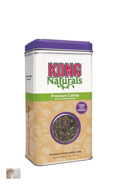 KONG Naturals Premium Catnip is North American grown catnip of the highest quality. KONG catnip is harvested at the peak of its flavour, colour and fragrance and field-dried.