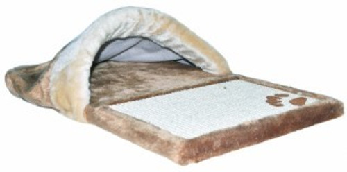 A great cat scratcher for cats who prefer not to claw posts. The plush end of the scratch mat is covered to ensure a snug bed , rest area for your cat