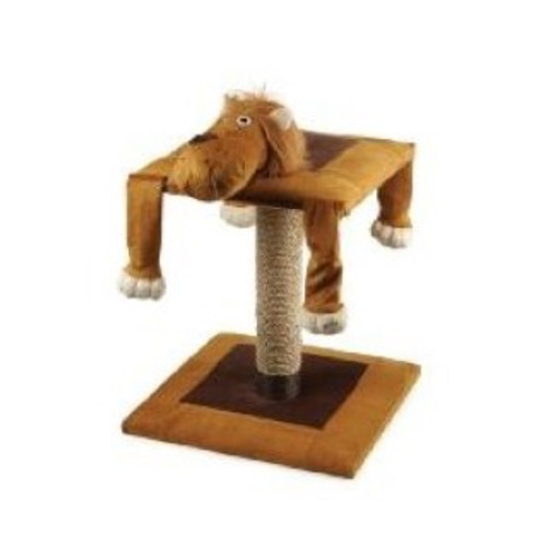 Acticat Lazy Scratch Post Lion 56cm Lazy Lion Cat Furniture Lion face with dangly arms and legs for your cats' enjoyment! Approx 56cm tall