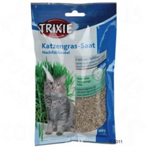 Helps prevent hair ball formation. Easy to grow. Great fun for kids also. 100% natural barley seed. No added chemicals.,  100gram seed only packs Suitable for cats and kittens