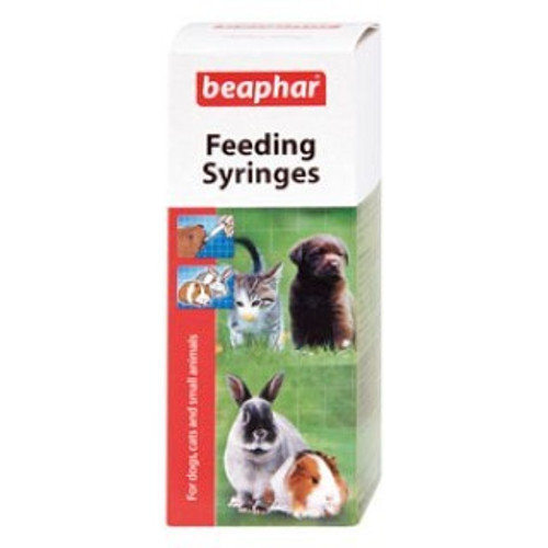 Beaphar Feeding Syringes are invaluable for anyone trying to rear very young or weak animals.  This pack contains two 12ml syringes and is ideal for feeding Beaphar Lactol or Beaphar Kitten Milk.  Approximate Dimensions (Product): H13.5 x W5.4 x D5.4cm