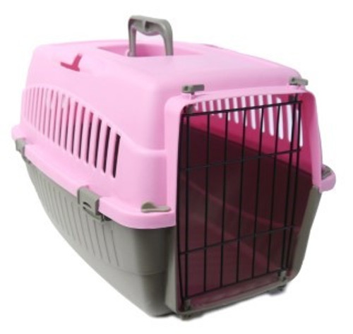 Options Essentials Pet Carrier 1 – safe & secure travel for your pet!  Features:  – With seat-belt slot for added safety in the car.  – Door can be opened to the left or right as required.  – Quick, secure and easy to use clips.  – Easy to clean plastic.  – Quick and easy to use clips.  – Approximate Dimensions: 48 x 32 x 30cm.