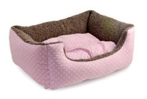 A cute little fleece lined domino bed ideal for cats and smaller dogs to curl up in.F or cats and small dogs Fleece Lined 45cm x 35cm x 18cm