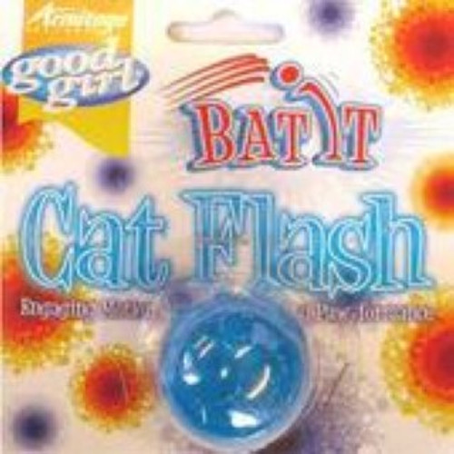 As the cat bats the ball around it flashes. great interactive fun for any cat playtime