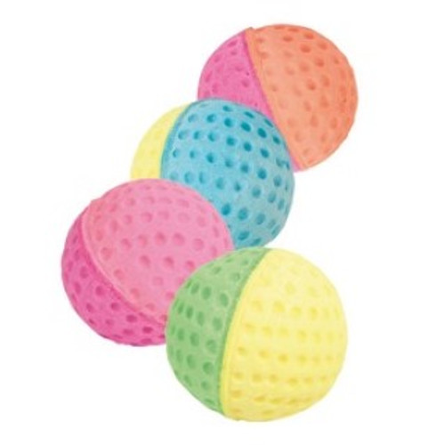 Soft sponge balls from trixie  for the cat that likes quiet play   Great cat fun playtimes with every ball. Colours dispatched will vary