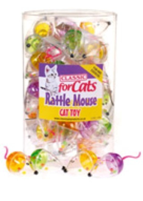 Two rattle mice in each pack for cats who love fun playtimes. Great for cats and kittens of all ages.