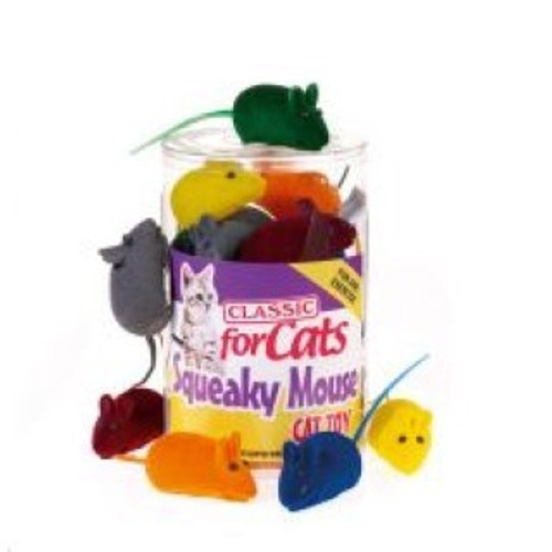 The Squeaky Mini Mouse is a fun cat toy from Classic that is sure to get your cat's attention. As they play the toy will let out squeaks which will keep your cat coming back for more.