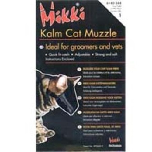 his specially designed feline muzzle helps calm cats in stressful situations by covering their face and eyes. Opening at front ensures that the cat is able to breath normally, without also being able to bite. Ideal for use during grooming and vet visits Helps calm and relax cats Adjustable strap with quick- snap lock Strong and soft nylon Size 2 for Larger cats including British shorthairs , Burmese and long hairs ;