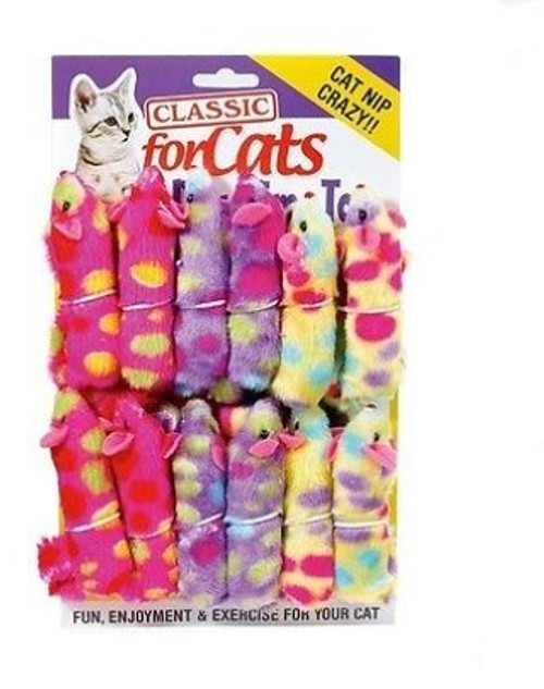 """The Classic Catnip Ferret is a high quality catnip toy for your kitty. Designed to offer a great experience for your pet, they will love pawing, chewing and just generally playing with Classic Catnip Ferret.  Length: 9"""" (including tail)  Please note that colour selection will be random,"""