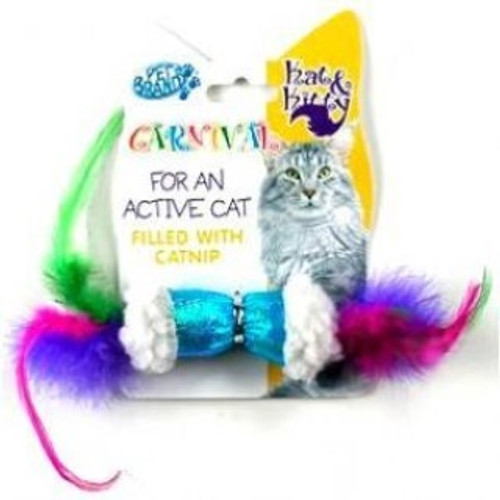 Colourful, crinkly and catnip enhanced, what more could any cat or kitten want ? A great little catnip toy for any cat household.
