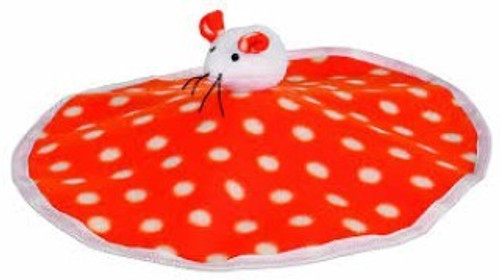 Fleece-with sewn-in rustling foil and ball with bell, A great playmat for cat and kitten alike.