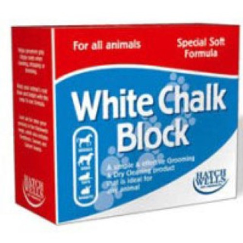 A brilliant grooming aid, suitable for all animals. Keeping your pet's coat clean and bright has never been easier. The special, soft formula of Hatchwell White Chalk Block produces a great, dry cleaning aid for keeping your pet looking their absolute best. Particularly useful for showing animals and providing grip for hand stripping dogs or cats.