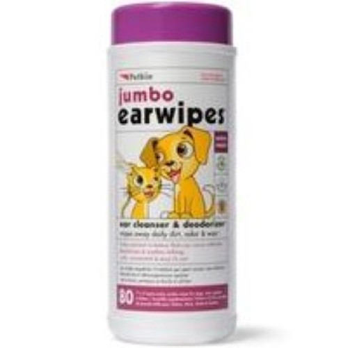 These Jumbo Ear Wipes are great for keeping your pet in optimum health and is a handy accessory to keep around the home. Both an ear cleanser and deodorizer in one, they also help to soothe itching and are great for throwing in the back of the car ahead of days out, holidays or general outdoorsy activities with your dog.  Veterinary approved, this is an excellent all-round helper.  Suitable for dogs and cats.
