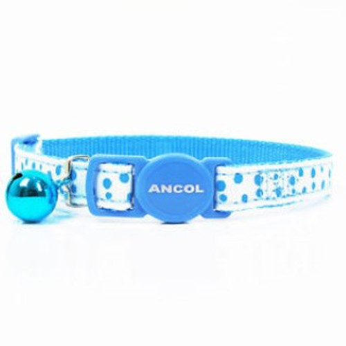 The Ancol Dotty Cat Collar is a great way to make your favourite feline stand out from the crowd. This cat collar features a colourful dotty design, a bell and a break-away buckle which is specially designed to snap apart if the cat is in any difficulty.  The collar length is adjustable, making it suitable for almost all adult cats. The width of the collar is 1cm.