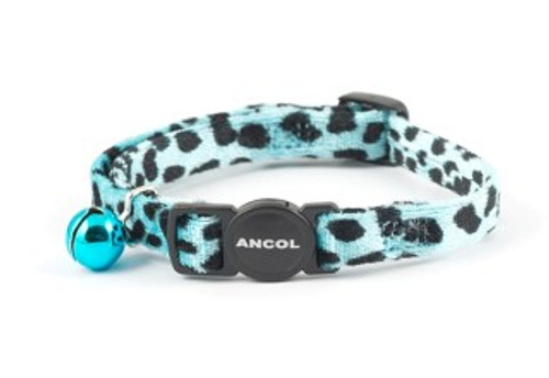 Help your cat make a funky fashion statement with the irresistible Ancol Velvet Leopard Print Cat Collar. This glamorous collar features a bold leopard print on sumptuously soft velvet. Ideal for a glamour-puss. All Ancol cat collars come with safety features as standard; this collar features a break-away buckle to allow your cat an easy escape if they get caught whilst climbing. All Ancol collars also feature a warning bell to help protect wildlife. When fitting your cat's collar, ensure that you can get two fingers between your cat and the collar for safety and comfort. Please remove the collar when using liquid flea treatments to prevent reactions between the treatment and the materials of the collar.