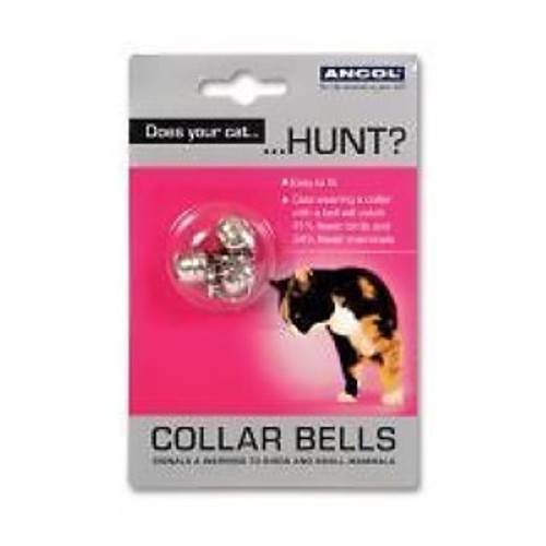 Silver Coloured Cat Bells For Cat Collars.  These collar bells are designed to signal a warning to birds and small mammals to prevent your cat from catching them. They are easy to fit and are shown to catch 41% fewer birds and 34% fewer mammals when worn.