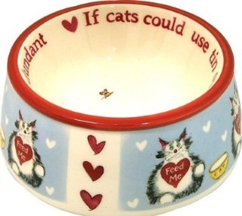 A lovely cat bowl from the Cupboard Love range, with unique artwork by Ann Edwards
