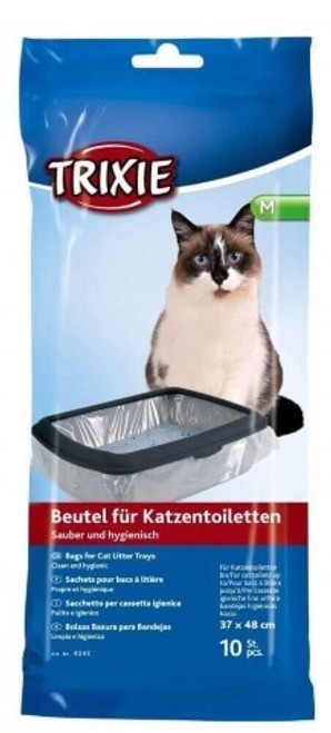 Bags for cat litter trays make the cleaning of the tray easier. Just put the bag into the litter tray and fill it with litter. When the litter has to be changed, simply take out the bag. A clean and hygienic solution.